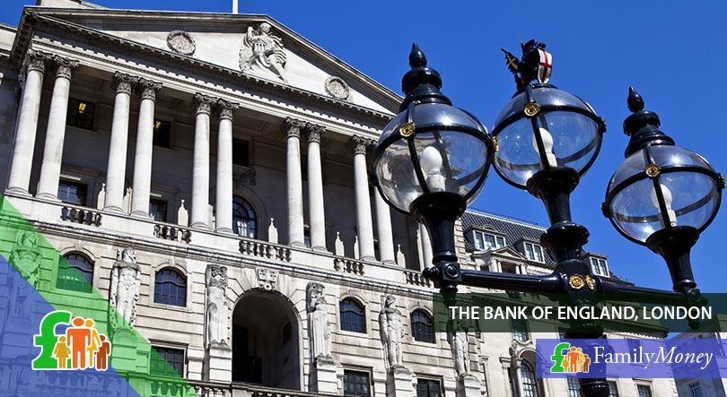 The Bank of England in London, a prominent institution in the history of the British Pound