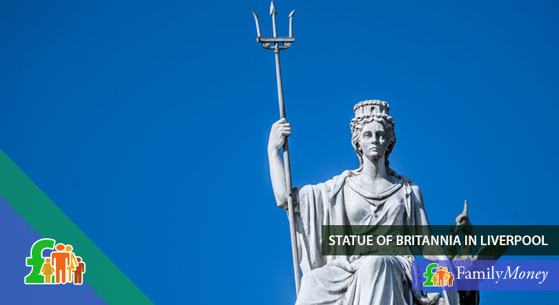 A statue of Britannia, depicted on British coinage historically