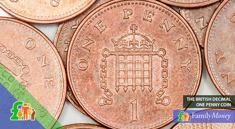 The British one Penny coin - a denomination of the Pound Sterling