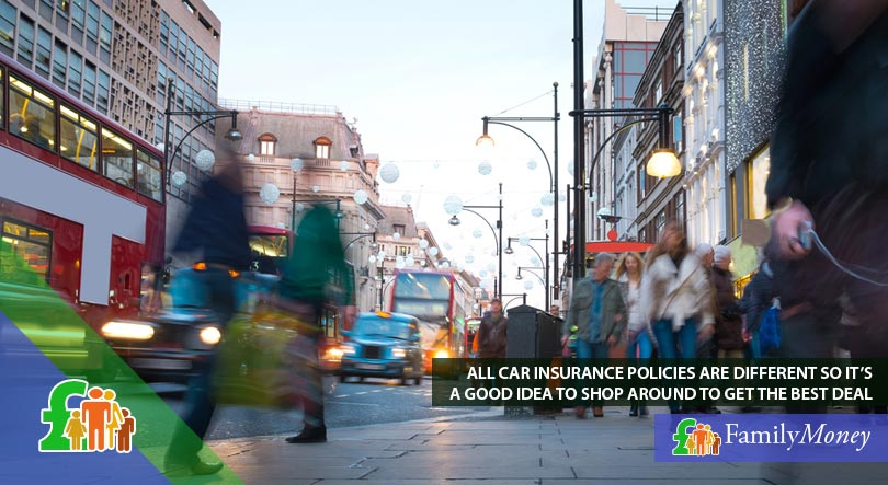 A busy street in London, where car insurance can be expensive depending on your area of residence