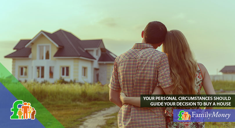 An image of a young couple who are considering to buy property