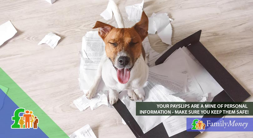 Your payslips contain information such as your tax code and it is important to keep them safe