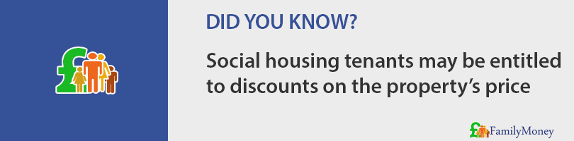 Social housing tenants may be entitled to discounts on the property's price
