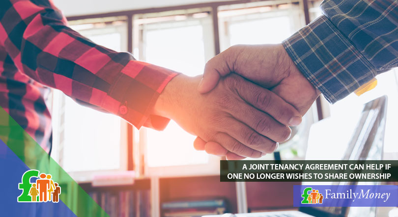 Agreeing on joint tenancy is an option when buying a house with someone else