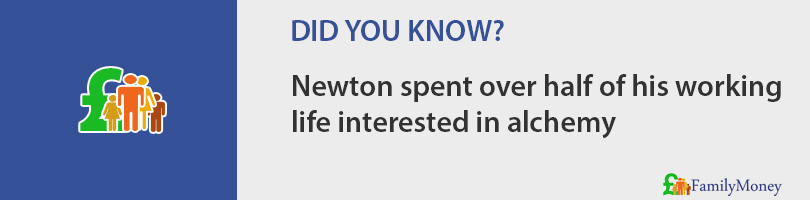 Newton spent over half of his working life interested in alchemy