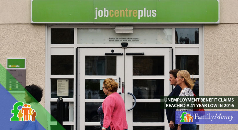 People walking past a job centre in the UK