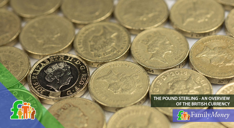 Old and new British one Pound Sterling coins