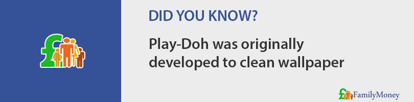 Play-Doh was originally developed to clean wallpaper
