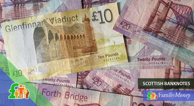 Scottish banknotes - the history of the British Pound
