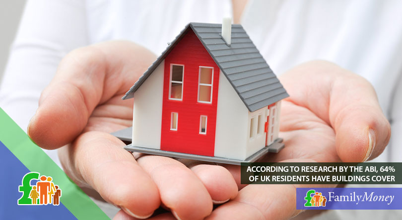 A small model house on pair of hands symbolising home insurance