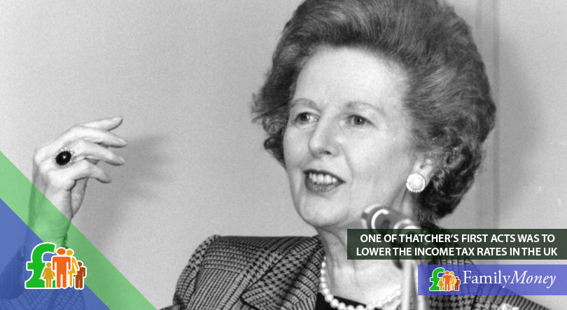 Margaret Thatcher lowered income tax rates in the UK