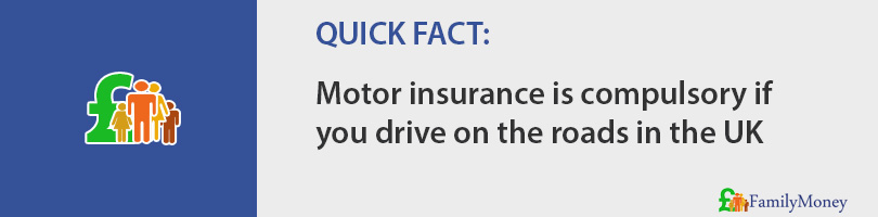 Motor insurance is compulsory if you drive on the roads in the UK
