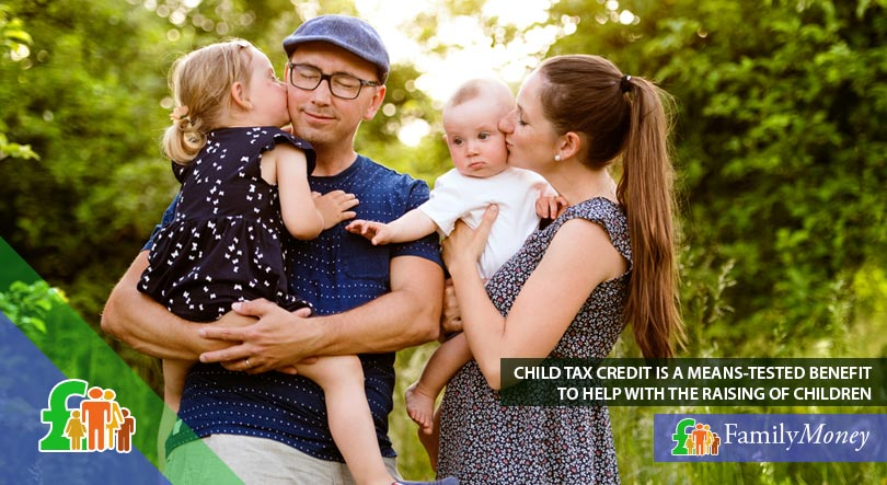 A young family who are recipients of state benefits in the form of child tax credit