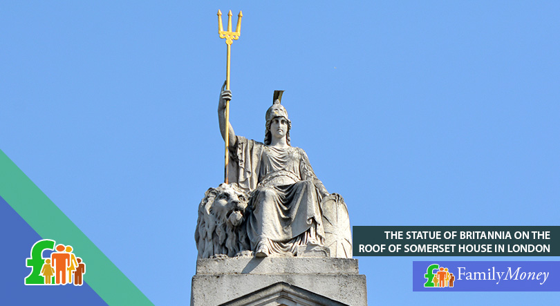The statue of Britannia, who has been a symbol of Britain since Roman times