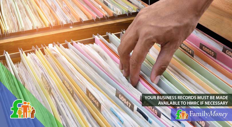 Business records that are being kept by a self-employed professional for tax-related purposes