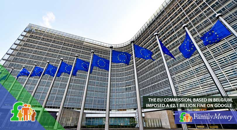 The European Commission, which is located in Belgium and imposed a large fine on Google on unfair practices