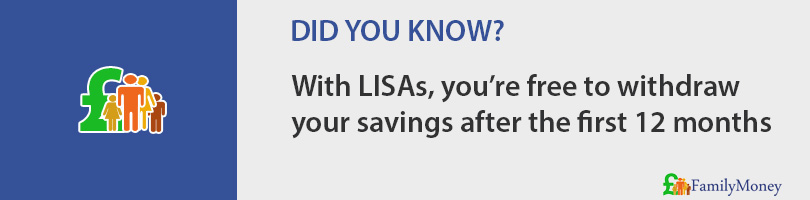 With LISAs, you're free to withdraw  your savings after the first 12 months