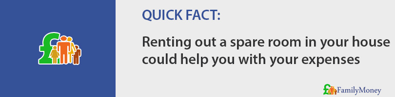Renting out a spare room in your house  could help you with your expenses