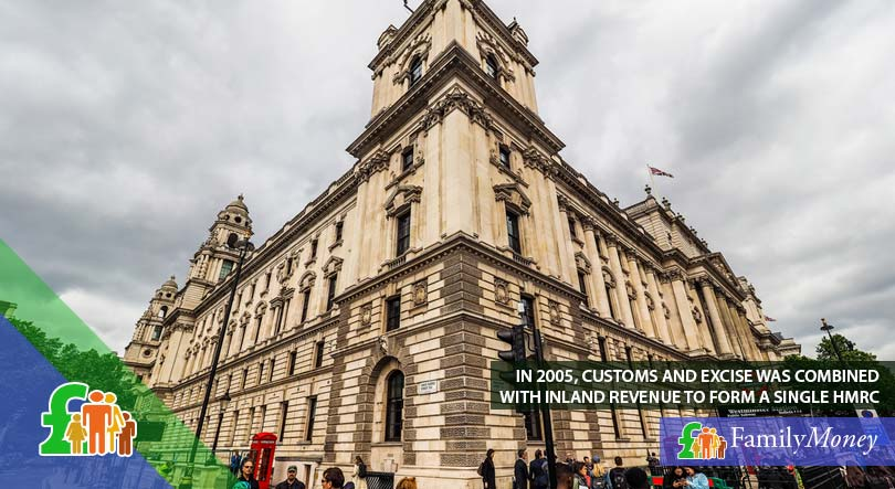 A picture of the HMRC building. HMRC was formed in 2005 when Excise and Customs and Inland Revenue were combined.