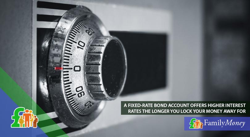 A picture of money-safe that symbolises the locking away of your money when depositing into a fixed-rate bond savings account
