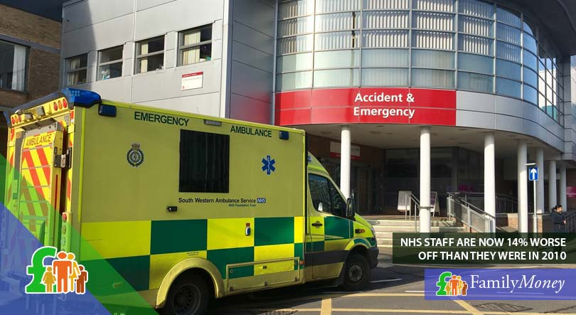 A picture of an NHS ambulance parked outside the emergency ward