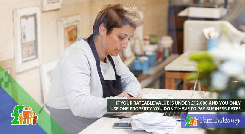 A small business-owner doing her taxes and determining whether she has to pay business rates