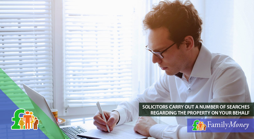 A solicitor carrying out a number of searches on behalf of first-time property owners