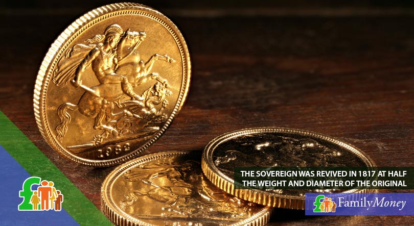 A picture of a sovereign coin