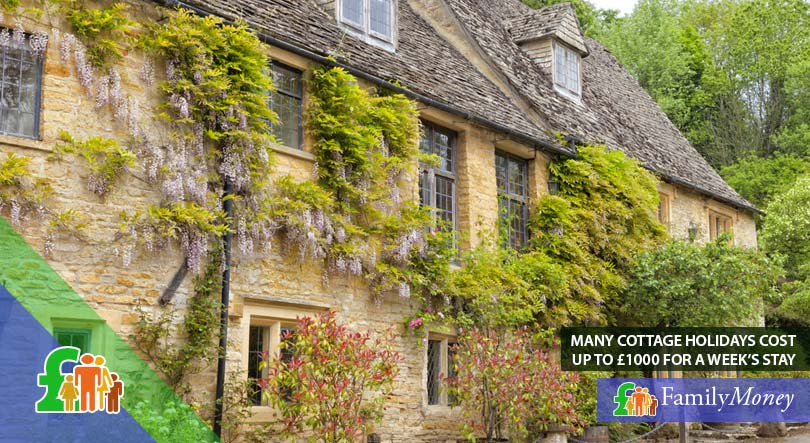 Cottage buildings, where taking a holiday can cost up to 1000 pounds