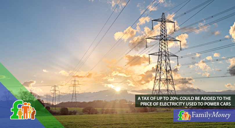 An electricity pylon with the sunrise in the background