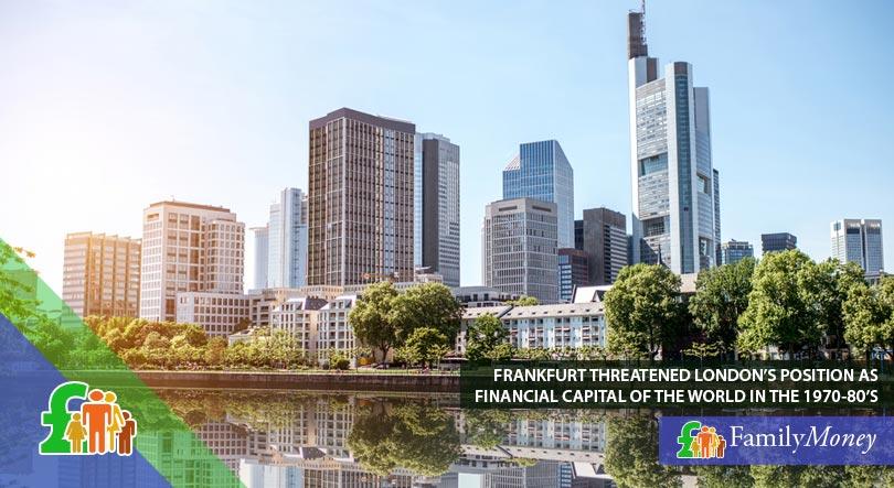 The financial district of Frankfurt
