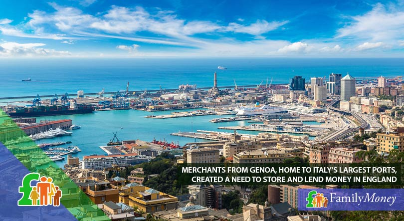The city and port of Genoa in Italy