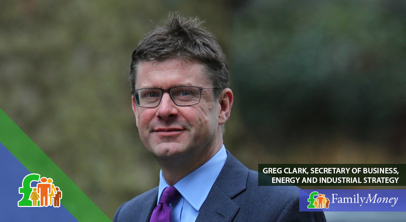 A picture of Greg Clark, Secretary of Business, Energy and Industrial Energy