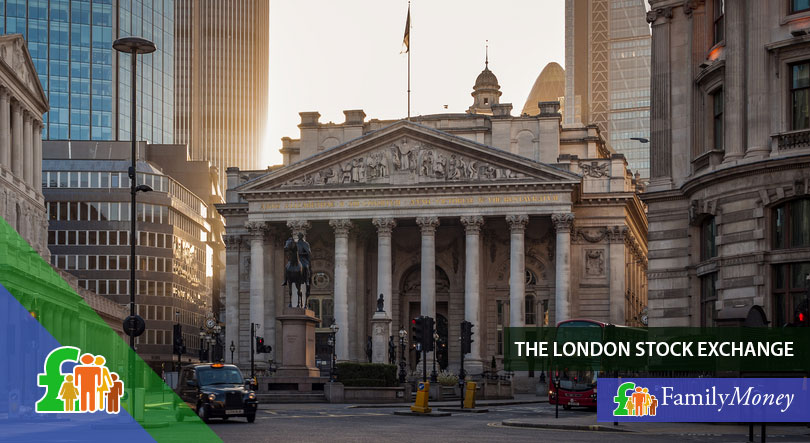 A picture of the building of the London Stock Exchange