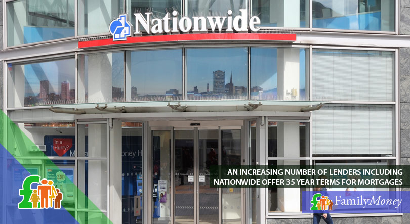 A picture of the front of a Nationwide bank branch