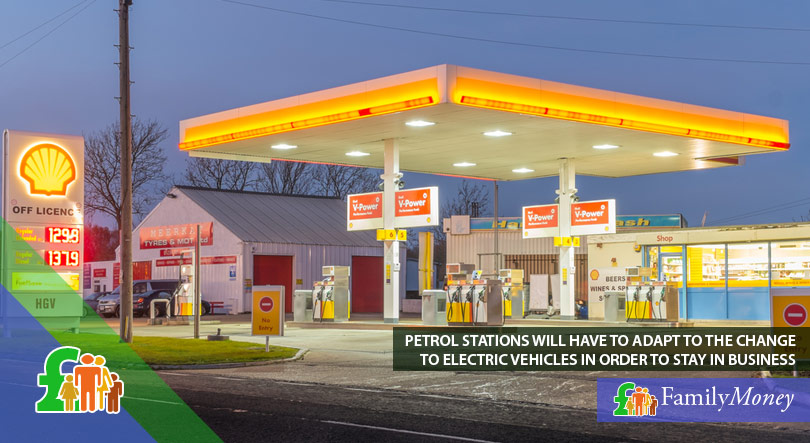 A petrol station which will have to adapt to the change to electric vehicles in order to stay in business