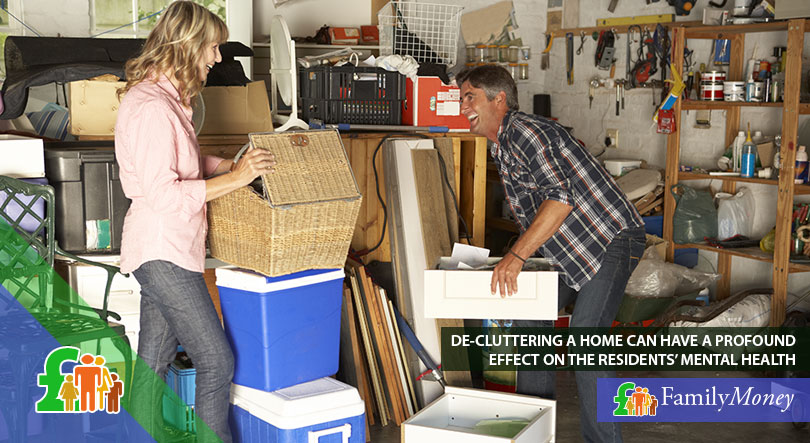 A couple are clearing out their storage space as part of spring cleaning