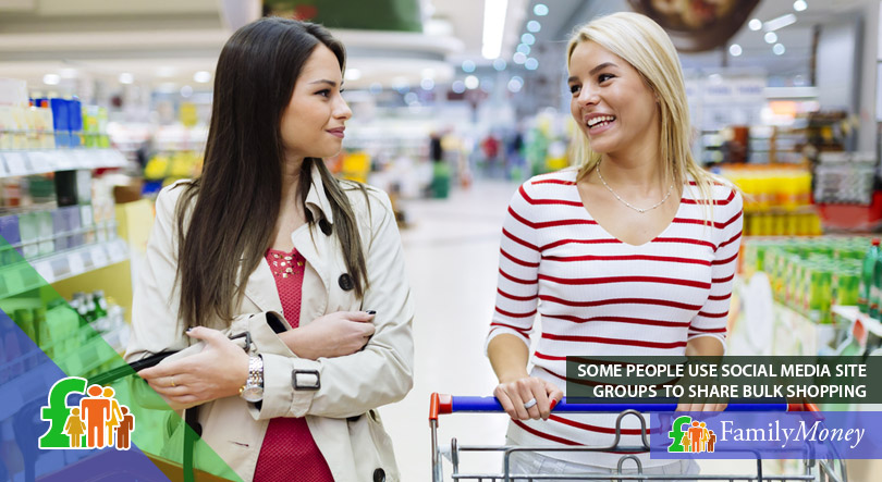 A couple of friends are taking advantage of bulk shopping together to help save more money