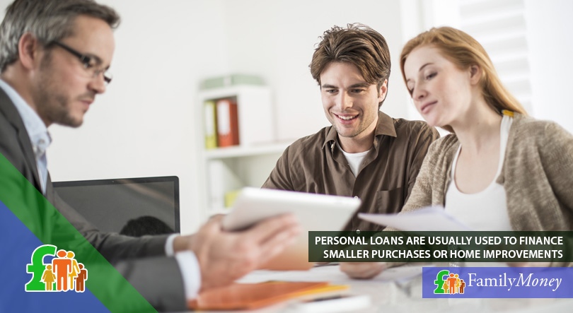 A young couple are discussing the terms of their personal loan with their lender