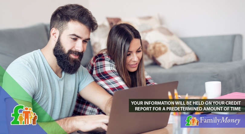 A young couple are checking their credit reports online