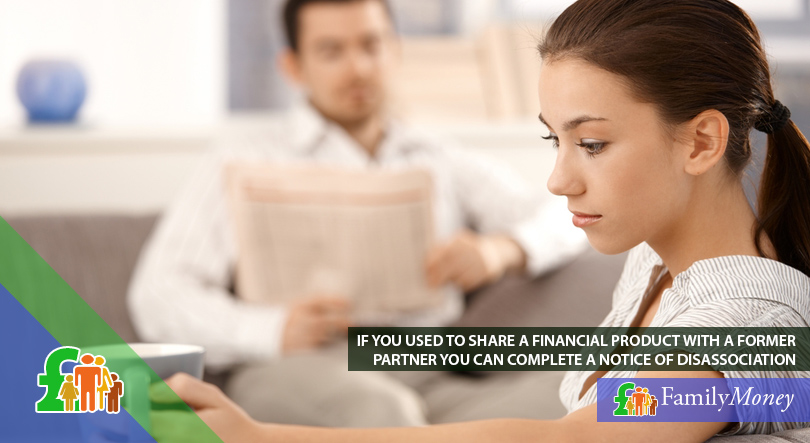 A young couple who are sharing a financial product are thinking to complete a note of disassociation