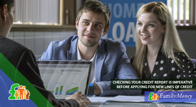 A young couple are checking their credit report before making new substantial financial commitments