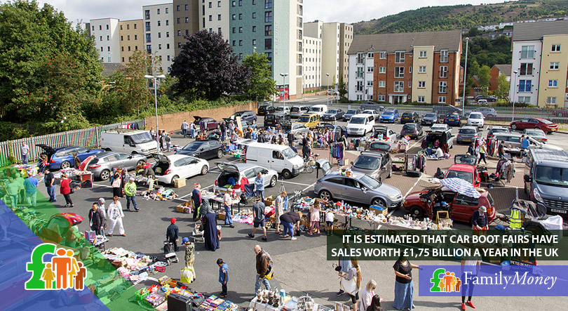 A car boot sale at Swansea, UK