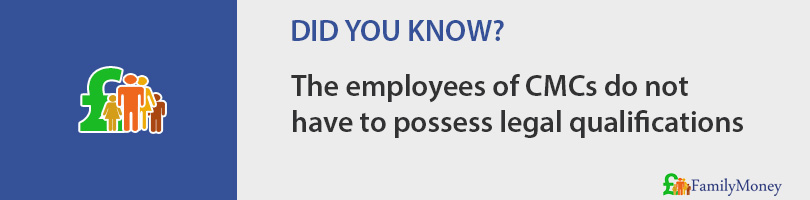 The employees of CMCs do not  have to possess legal qualifications