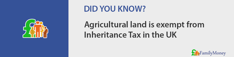 Agricultural land is exempt from Inheritance Tax in the UK