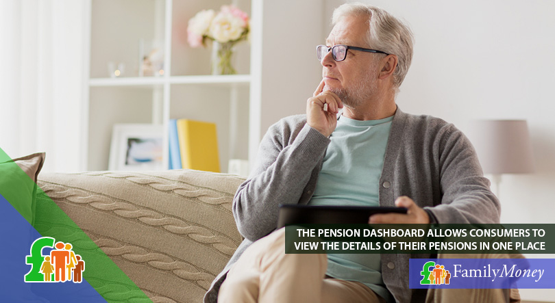 An older man is searching for pensions details on the pension dashboard