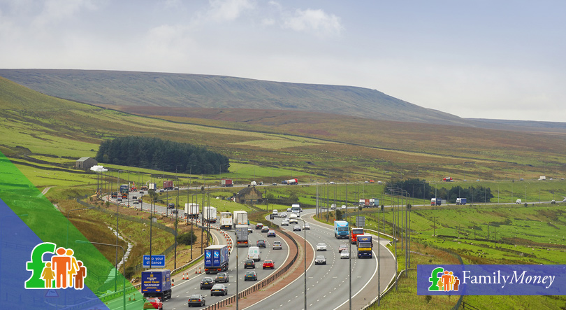 A motorway in the United Kingdom