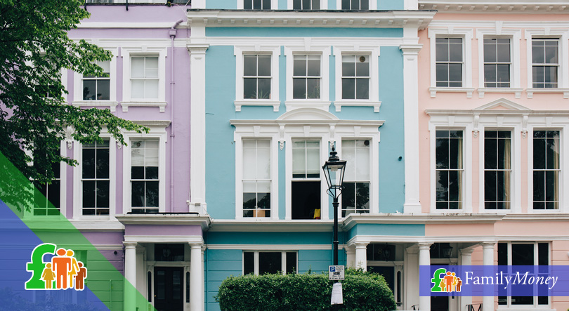 London housing on an expensive street