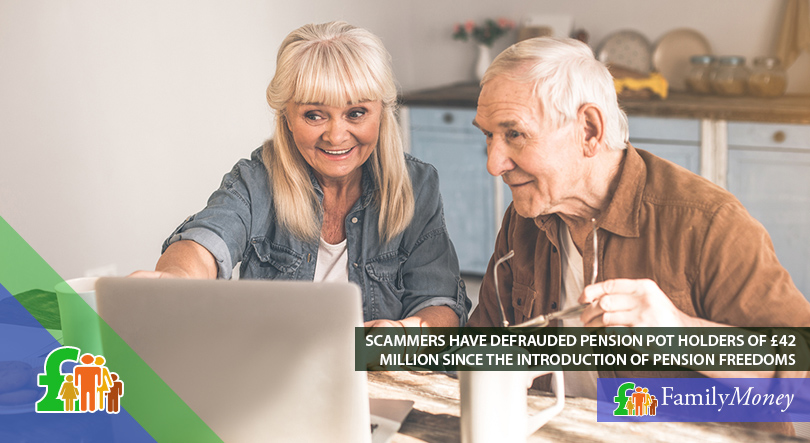 A pensioner is being educated on what to look out of when taking out his pension pot funds to avoid being scammed