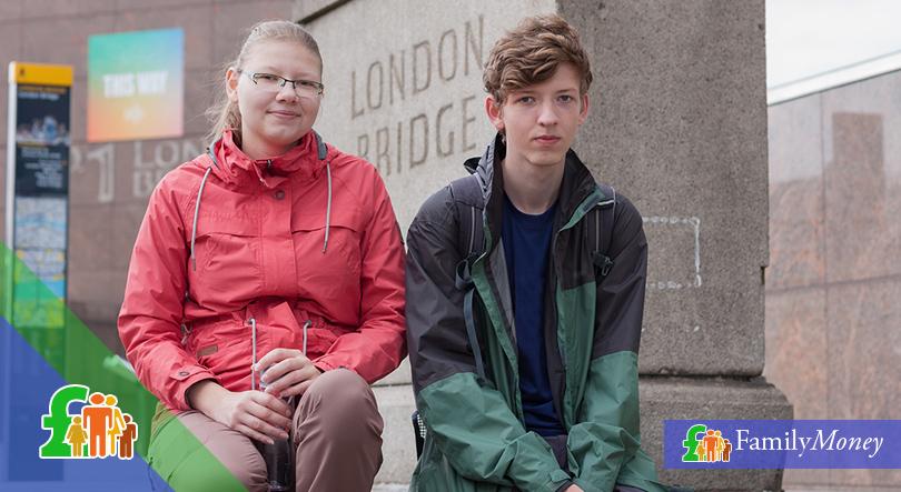 Young couple at London Bridge